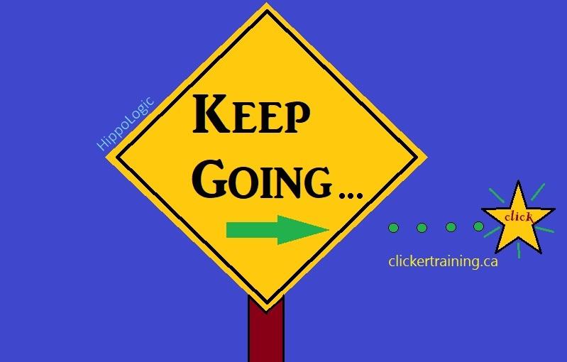 Keep Going Signal clicker training