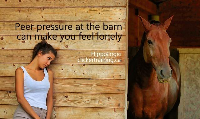 peer pressure barn_hippologic_clickertraining