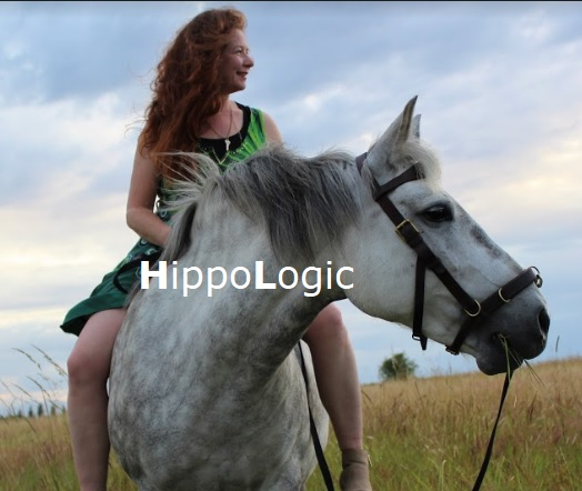 Sandra Poppema BSc and her horse Kyra. Sandra tamed and trained this wild horse in 3 weeks with clicker training