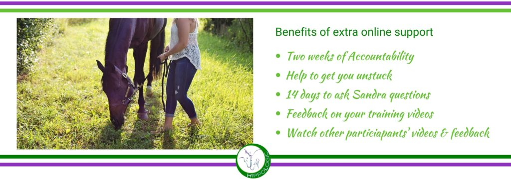 Benefits of 14 day extra online support in Grass Training