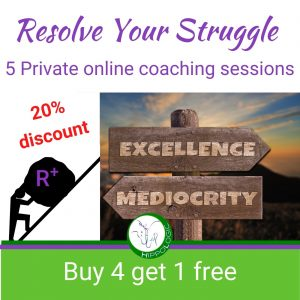 Buy 4 and get one coaching session for FREE