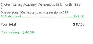 Amazing deal: get 50% off of a 60 minute coaching session with a membership