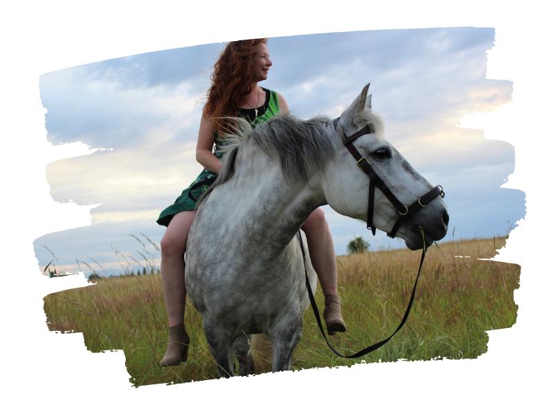 Sandra and her horse Kyra