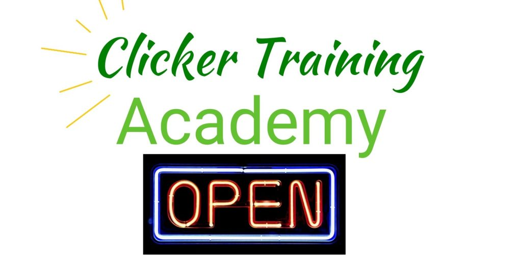 Clicker Training Academy is open for enrollment